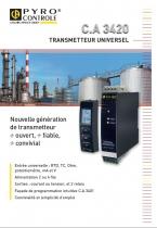 Transmetteur universel C.A 3420 Pyrocontrole