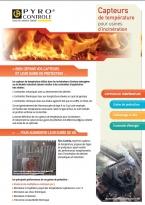 Incinération déchets, thermocouple de type K, capteur de temperature